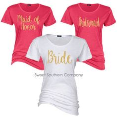 Check out this item in my Etsy shop https://www.etsy.com/listing/268322137/7-bride-and-bridesmaids-fitted-tshirts