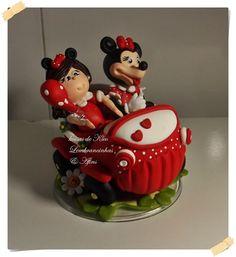 topo de bolo minie vermelha personalizado  atelie kleo santana