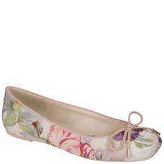d479c919b2238a Ted Baker Women s Charee Floral Print Ballet Pumps - Light Pink Multi