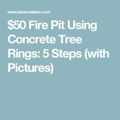 How to Fix Dough That Won& Rise: 12 Steps (with Pictures) Pebble Patio, Fire Pit Uses, Large Fire Pit, Barbecue Ribs, Tree Rings, Outdoor Ideas, Backyard Ideas, Concrete, Repurpose