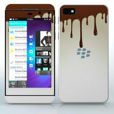 Melting Chocolate Melted chocolate pattern phone skin sticker for Cell Phones / Blackberry Z10 | $7.95