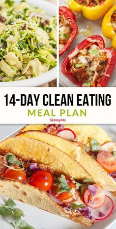 clean eating meals Looking to make a major lifestyle change Switch to a clean-eating plan! Its easy to and itll get you on track to crush your weight-loss goals. Clean Eating Plans, Clean Eating Meal Plan, Clean Eating Snacks, Eating Healthy, Clean Meals, Clean Clean, Eating Habits, Detox Eating Plan, Detox Meal Plan