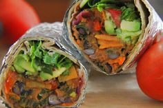 Talis Tomatoes: Spicy Bean and Sweet Potato #Burritos