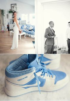 Chucks are cute, but these Jordans that were custom made for the groom are HAWT!