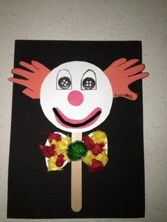clown and circus crafts Circus Crafts Preschool, Clown Crafts, Puppet Crafts, Fall Preschool, Toddler Crafts, Circus Art, Circus Theme, Marionette, Toddler Teacher