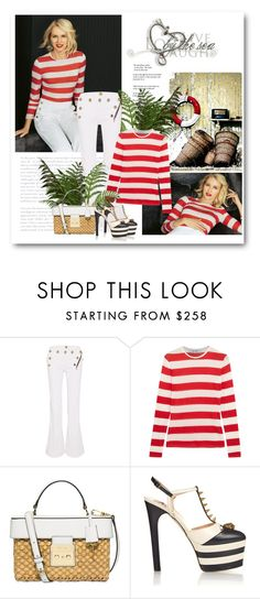 """""""nautical"""" by bliznec ❤ liked on Polyvore featuring Forum, RVDK, MaxMara, MICHAEL Michael Kors and Gucci"""