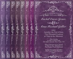 Purple Wedding Invitations For Autumn Weddings By TheRocheShop