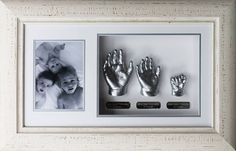 Siblings! #impressionablekids #itsnevertolate #perfectkeepsake Pregnant Belly Cast, Belly Cast Decorating, Photo Bb, Hand Statue, Baby Cast, Casting Kit, Memory Crafts, Baby Hands, 3rd Birthday Parties