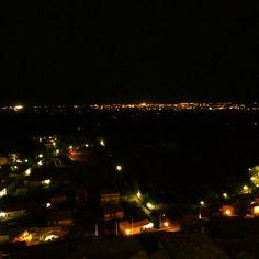 La meravigliosa vista che concede Gerace nelle serate d'estate...