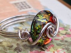 Wire wrapped Sterling Silver Volcano Round by CrystalBaubles, $27.95