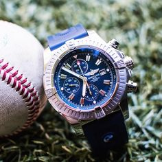 """""""This Breitling Super Avenger II is the perfect watch for your most active days.  Available now for $3,500 (Average retail price $5,490). Feel free to give…"""""""