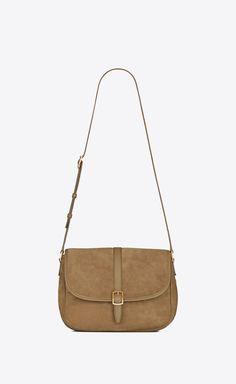 Satchel, Crossbody Bag, Natural Tan, Wallet Chain, Vintage Leather, Smooth Leather, Yves Saint Laurent, Shoulder Strap, Saints