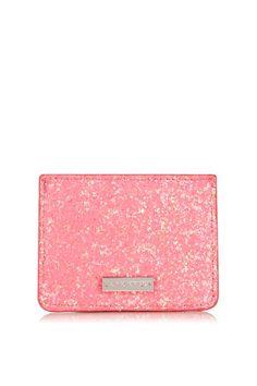 Skinnydip Skinny Dip Pink I Believe in Unicorns Coin Purse Wallet Chain Gold Zip