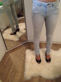 Skinny-Jeans im Used-Look - kleiderkreisel.de