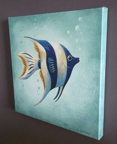 Angel Fish Gallery Wrapped Canvas Print 14 X 14 by Steve Haskamp, $49.00