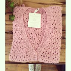Hand knitted blossom pink cardigan