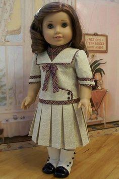 "Little Firecracker Patriotic Short Set fits 18/"" American Girl Doll Clothes Boy"