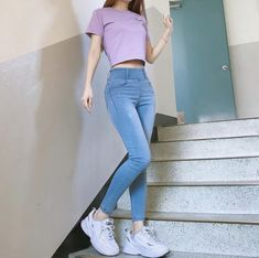 """ - Lilly is Love Korean Girl Fashion, Korean Fashion Trends, Ulzzang Fashion, Korean Street Fashion, Look Fashion, Cute Fashion, Vintage Fashion, Korean Fashion Summer, Classy Fashion"