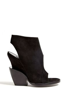 Emke Apro Suede Open Toe Bootie by Theory