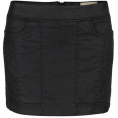 Perette Biker Mini Skirt ($105) ❤ liked on Polyvore featuring skirts, mini skirts, bottoms, saias, black, pocket skirt, short mini skirts, stretchy mini skirts, mini skirt and stretch skirt