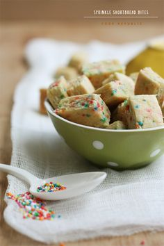 Sprinkle Shortbread - Cook Republic: Love the placement of the spoon and sprinkles, the composition here is great.