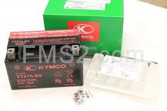 Batteria Yuasa, marchiata ed inscatolata Kymco, YTX7A-BS 12 Volt - 6 Ah, ricambio 00172378