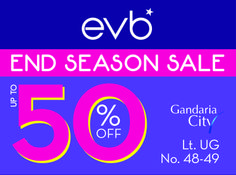 End Of Season Sale up to 50% OFF @ EVB Gandaria City UG Floor! Come and get it fast everyone! Promo until April 21th, 2014!