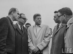 Pres. John F. Kennedy during campaign tour. Location: US Date taken: October 1962 Photographer: Art Rickerby