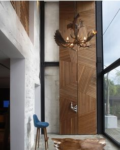 Love the details of this wall/floor/door combo