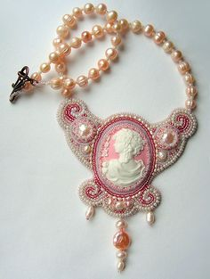 Bead embroidery by Olga Orlova. Fiance Necklace