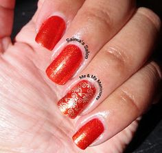 Saima's Salon: My Manicure: Orange Nails For Animals