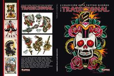 Tradicional: This tattoo book from Argentina is written entirely in Spanish. Even if you don't speak the language, the pictures are amazing to look at! This book contains more than 120 pages of traditional tattoos. Retail Price: $29.99 (wholesale pricing available).