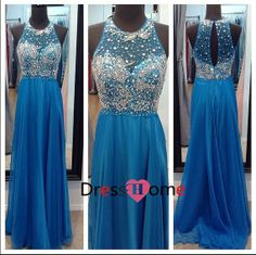 New Blue Prom Dress Sexy Prom Dress / Blue party by DressHome, $229.99