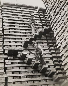 A Mountain of Railroad Ties