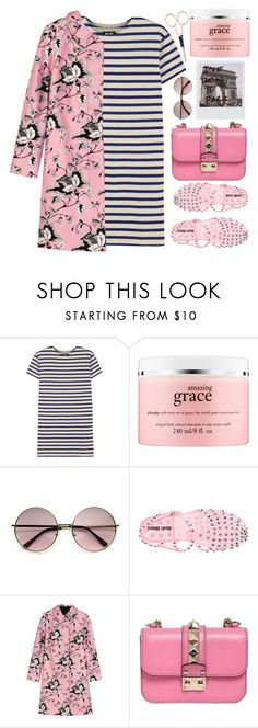 """""""How to mix flowers and stripes"""" by karineminzonwilson ❤ liked on Polyvore featuring NLST, philosophy, Markus Lupfer, Diane Von Furstenberg, Valentino and Anastasia Beverly Hills"""