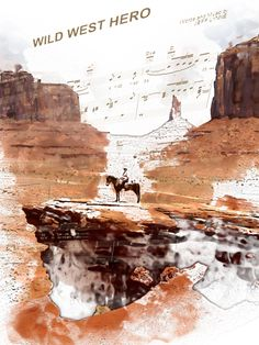 No 3 in a series of 3 depicting Icons of the Wild West - Wild West Hero.