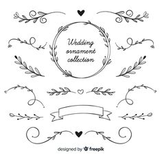 Hand drawn wedding ornament collection F. Bullet Journal Banner, Bullet Journal Lettering Ideas, Bullet Journal Writing, Bullet Journal School, Bullet Journal Ideas Pages, Bullet Journal Inspiration, Journal Notebook, Doodle Drawings, Easy Drawings
