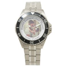 Shop Happy Father's Day Grandpa Custom Photo Gift Watch created by UniquePhotoGifts. Personalize it with photos & text or purchase as is! Happy Fathers Day Message, Happy Fathers Day Daddy, Fathers Day Messages, Fathers Day Photo, Fathers Day Crafts, Grandpa Gifts, Gifts For Dad, Grandfather Gifts, Father's Day Diy