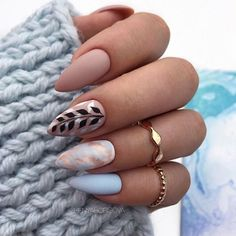 36 amazing natural short almond nails design for fall nails nails . - 36 amazing natural short almond nails design for fall nails nails art ideas # … – 36 amazing na - Classy Almond Nails, Short Almond Nails, Almond Shape Nails, Almond Acrylic Nails, Cute Acrylic Nails, Acrylic Nail Designs, Glitter Nails, Fall Almond Nails, Almond Nail Art
