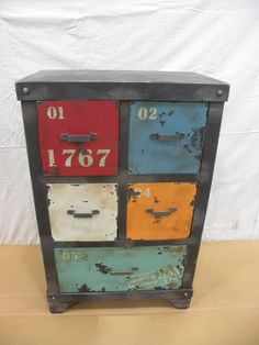 vintage industrial storage box, case, cabinet, mid century modern, urban, loft decor. tool box on Etsy, $203.00