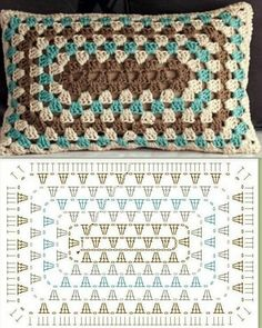 Crochet Granny Square Rectangle Yarns Ideas For 2019 Crochet Granny Square . Crochet Granny Square Rectangle Yarns Ideas For 2019 Crochet Granny Square Rectangle Yarns Crochet Cushion Cover, Crochet Pillow Pattern, Crochet Motifs, Crochet Cushions, Crochet Stitches Patterns, Crochet Afghans, Crochet Doilies, Cushion Covers, Crochet Baby