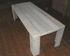 Steigerhouten tafel, tuintafel steigerhout