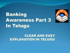 Banking Awareness Part 3 In Telugu - YouTube