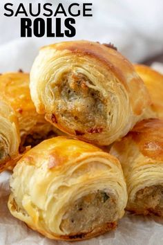 Sausage Rolls – An Easy Fun Party Appetizer! Sausage Rolls – An Easy Fun Party Appetizer!,Fingerfood Easy, filling and perfect for parties these Sausage Rolls are savory, meaty and full of just the right. Finger Food Appetizers, Appetizers For Party, Christmas Appetizers, Finger Food Recipes, Sausage Appetizers, Delicious Appetizers, Easy Finger Food, Finger Foods For Party, Snacks For Party