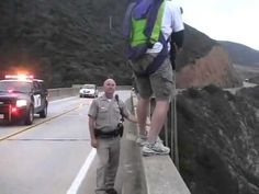 Calm cool CHP officer! Rookie woulda tried to grab this dude!