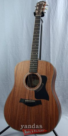 Taylor Dreadnought Acoustic-Electric Guitar what a gorgeous baby Yamaha Acoustic Guitar, 12 String Acoustic Guitar, Acoustic Guitar Lessons, Guitar Stand, Guitar Shop, Cool Guitar, Online Guitar Lessons, Guitar Lessons For Beginners, Beginner Electric Guitar