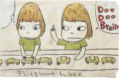 View Doo Doo Brain by Yoshitomo Nara on artnet. Browse upcoming and past auction lots by Yoshitomo Nara. Simulacra And Simulation, Aya Takano, Superflat, Yoshitomo Nara, Person Drawing, Montessori Art, Research Images, Takashi Murakami, Manga Covers
