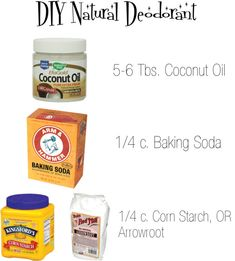 The BEST DIY Natural deodorant from The Broke-Ass Bride. You probably have all the ingredients already in your cupboard!