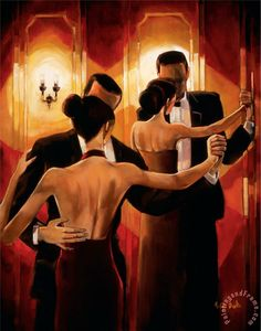 Tango Shop II Painting by Trish Biddle