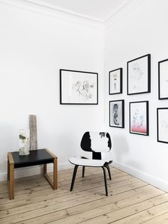 Fotografens egen scenografi | Bobedre.dk LOVE THE COMBINATION OF FLOOR COLOR, white and black